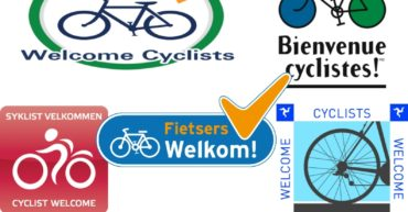 Cyclists welcome collage